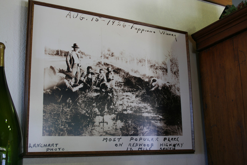 An old photo of Foppiano Winery during prohibition.
