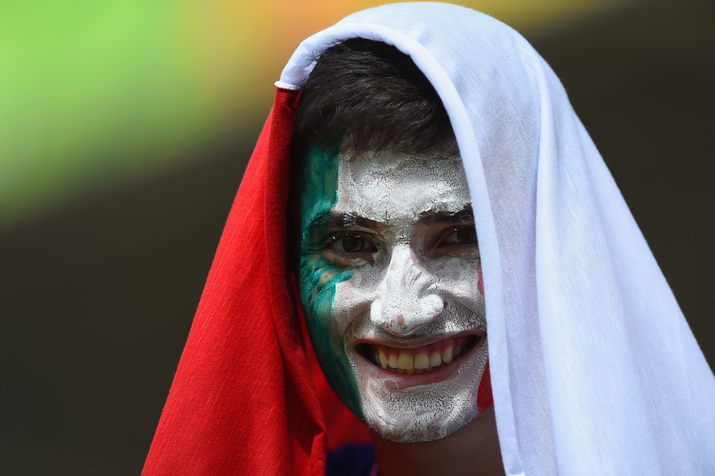 . An Italy fan poses before the 2014 FIFA World Cup Brazil Group D match between Italy and Costa Rica at Arena Pernambuco on June 20, 2014 in Recife, Brazil.  (Photo by Jamie McDonald/Getty Images)