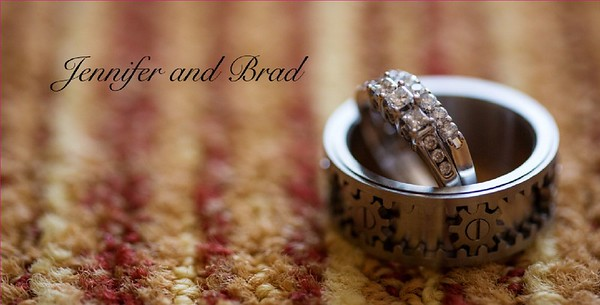 jennifer and brad wedding album