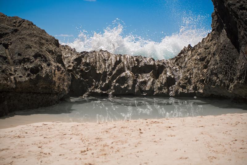 Crashing waves near Horseshoe Bay