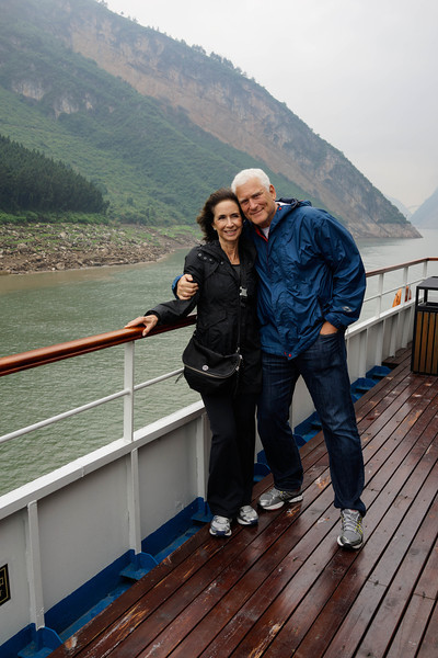 Elaine and Bruce Hochstadter on Yangtze River