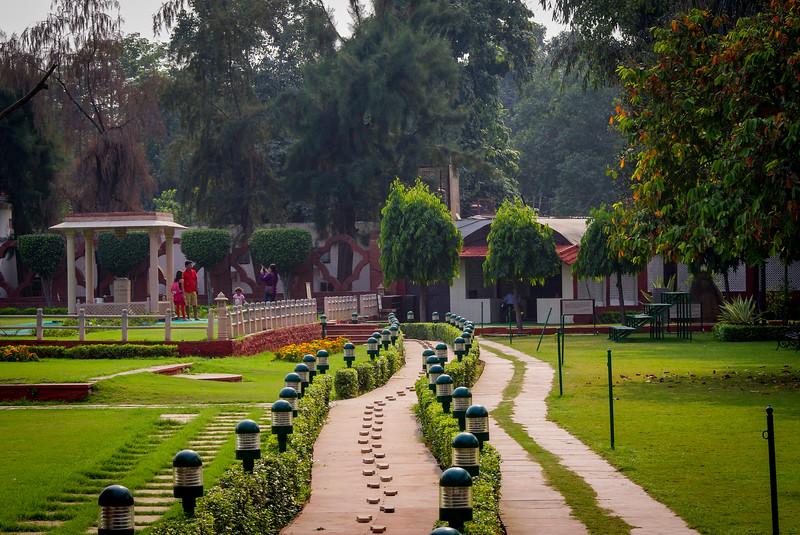 Gandhi memorial steps and stone