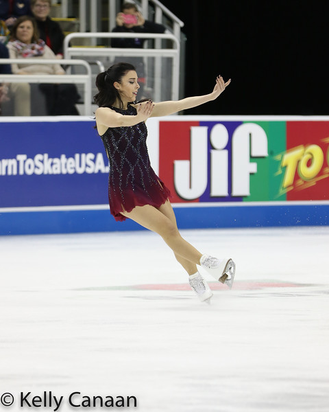Ashley Wagner performs her free skate in Kansas City.