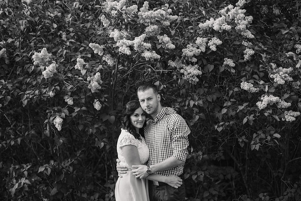 Jenna and Dan Engagement - B&W