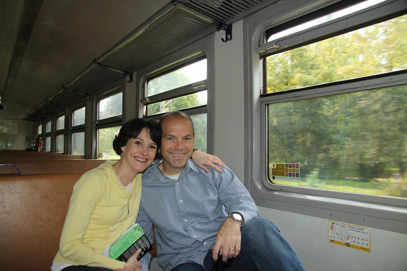 On board the train to the beach town of Jurmala -Riga, Latvia
