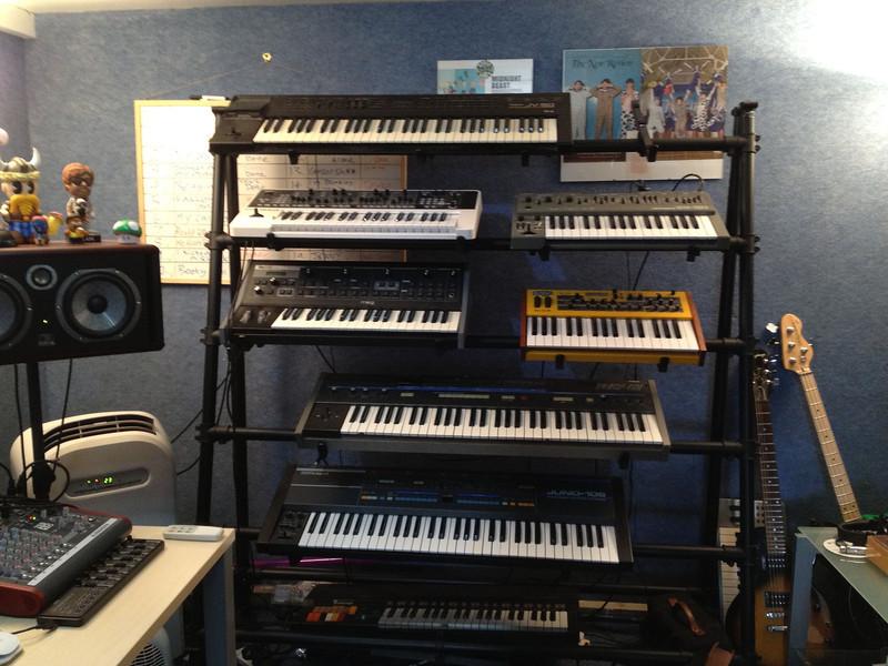 London studios of The Midnight Beast. Our Putney host's nephew, Stefan Abingdon, is a band member