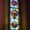 West proch - St James Church of 1807, St James Cathedral, and Mission to Canadian North <br> glass by Rosemary Kilbourn and Yvonne Williams, Toronto