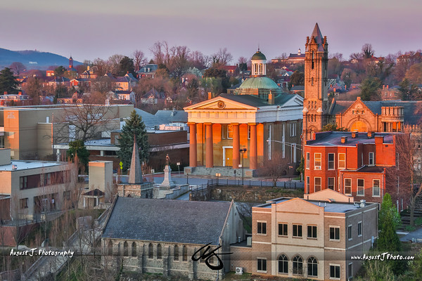 Lynchburg, VA; Downtown Views during Sunrise