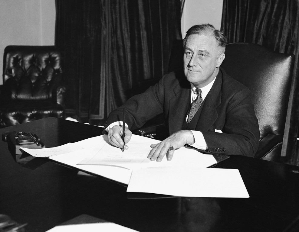 ". At a desk in the cabinet room President Franklin D. Roosevelt signs the Cullen-Harrison Act, or ""Beer Bill\"", the first relaxation of the Volstead Act in all the years of prohibition, March 22, 1933, in Washington. With its signature, the new law will permit the sale of beer and wine containing 3.2% alcohol from midnight of April 6. (AP Photo)"