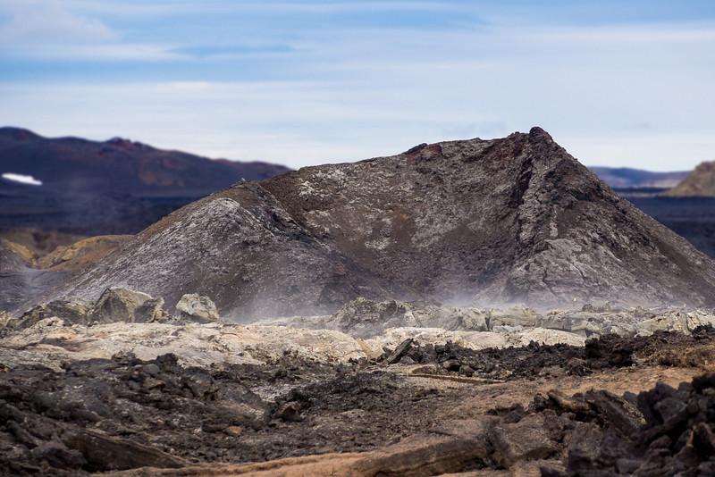 Eruption crater at Krafla