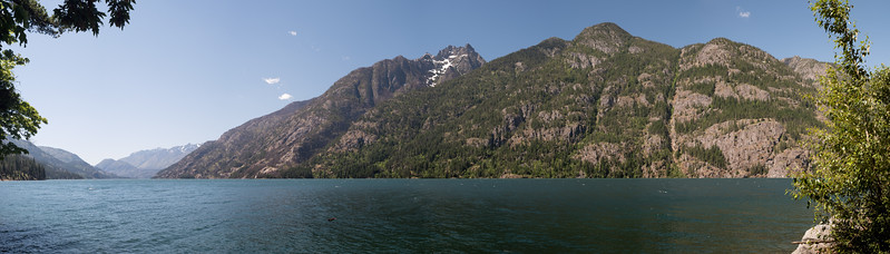 South across Lake Celan Stehekin Shore