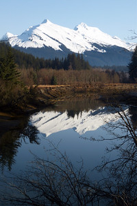 Mendenhall River Reflections - Vertical April 2012, Cynthia Meyer, Juneau, Alaska