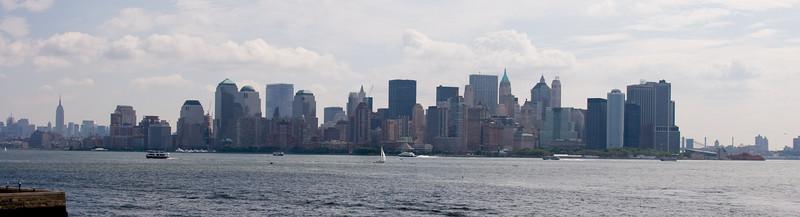 Manhattan skyline as seen from the ferry
