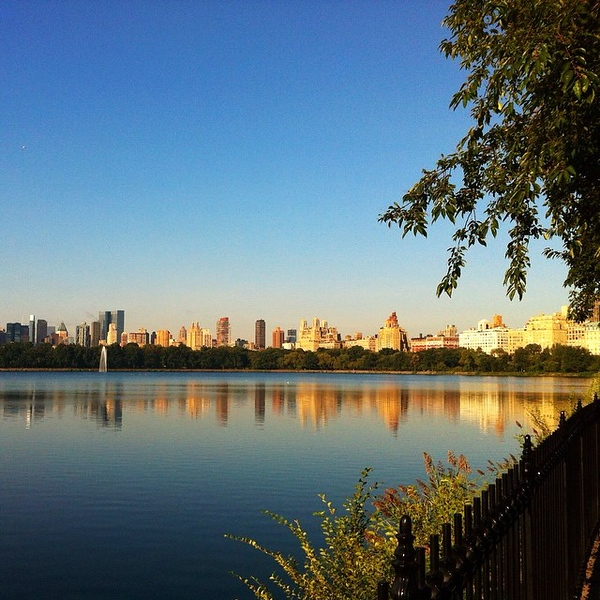 Perfect weather and a perfect view for a #CentralPark run this morning #latergram