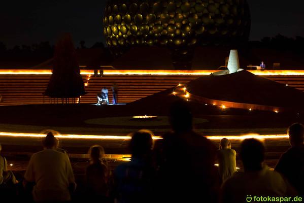 Auroville Bonfire