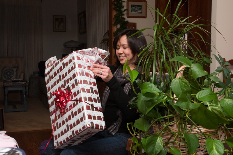 Valerie opens another gift
