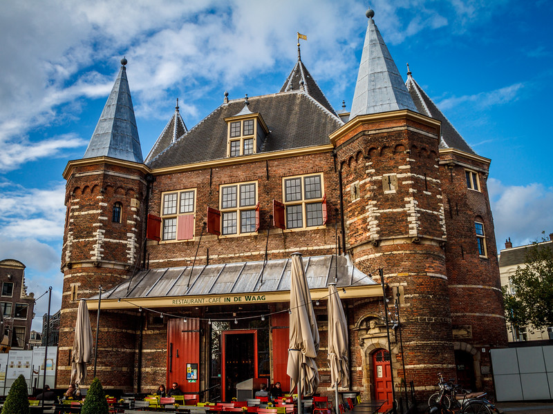 Café In de Waag, a 15th-century building on Nieuwmarkt square in Amsterdam.