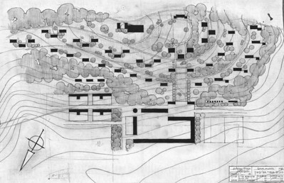 Kfar Glikson: Layout and Public Buildings  - 1944