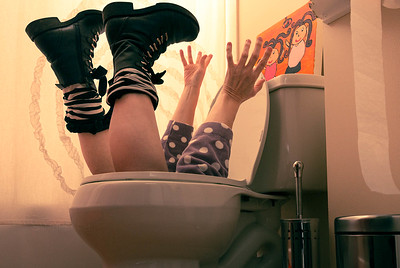 How I fell in the toilet