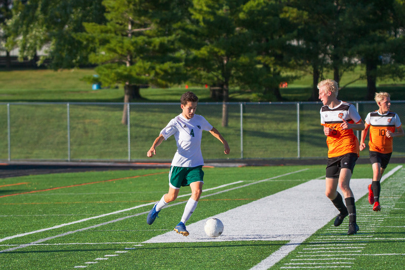 Holy Family Varsity Soccer vs. Delano, 9/19/19: Charlie Ficek '22 (4)