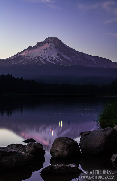 Mount Hood at Sun Set  Photography by Wayne Heim