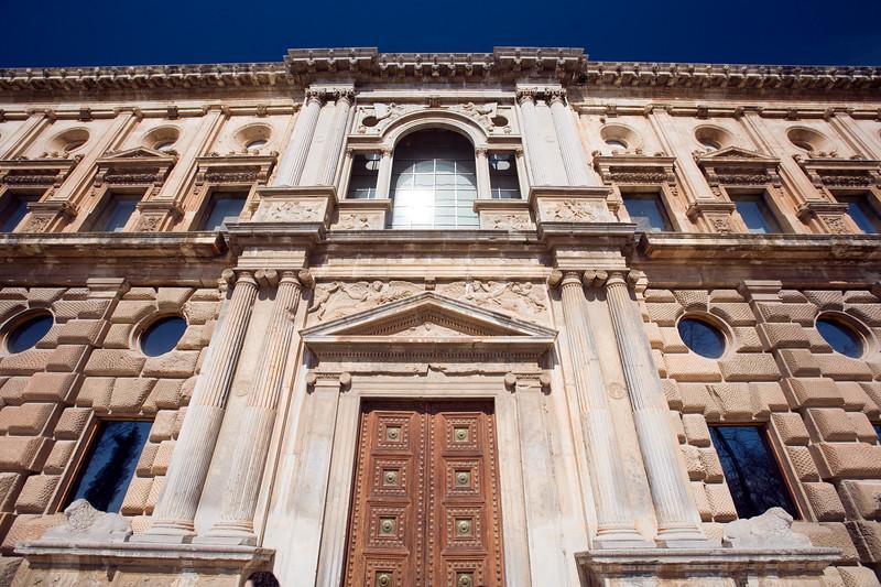 South facade of the Palace of Charles V, Granada, Spain