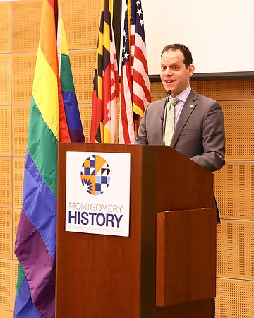 20200125 Evan Glass Donates Pride Flag to Historical Society