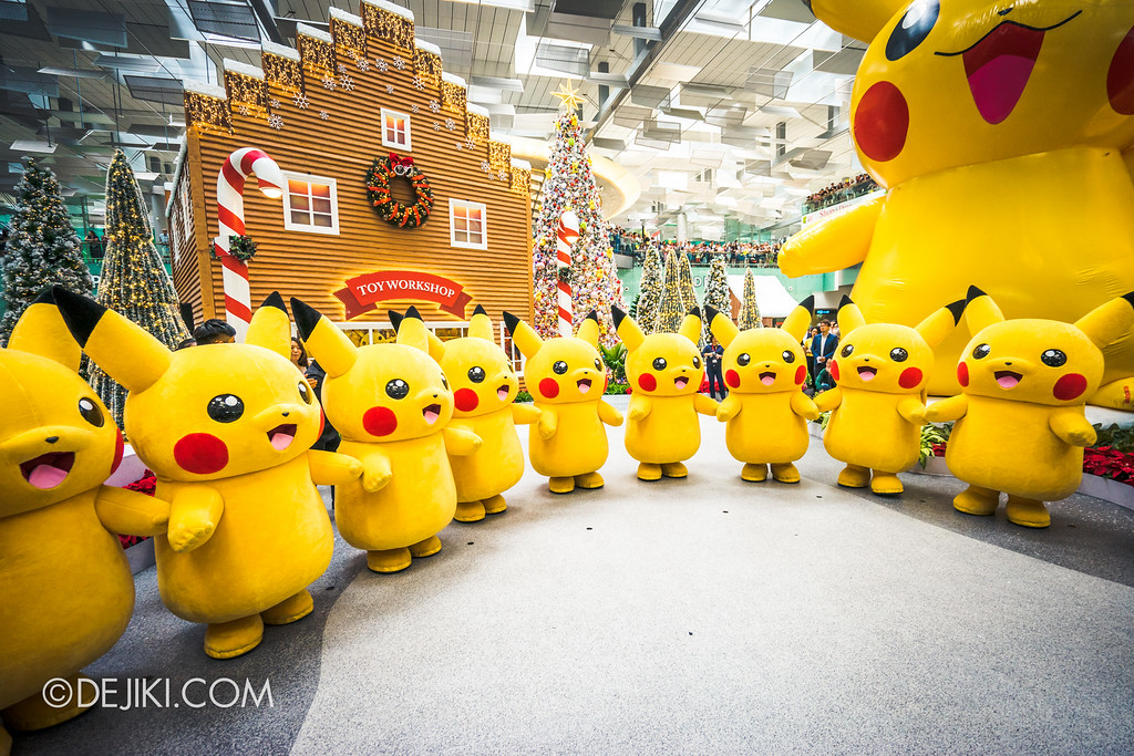 Pokémon at Changi Airport - Pikachu Parade Single Row