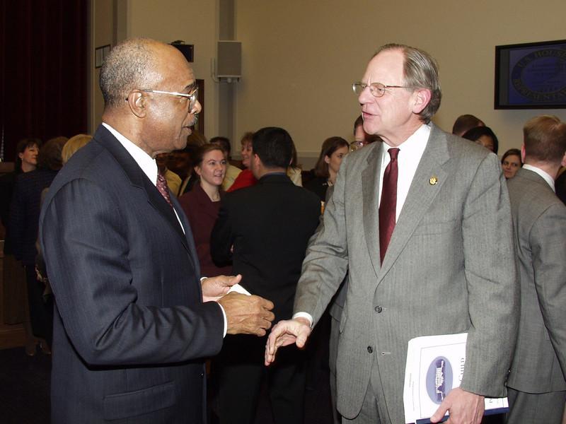 Secretary of Education Rod Paige and Representative Mike Castle