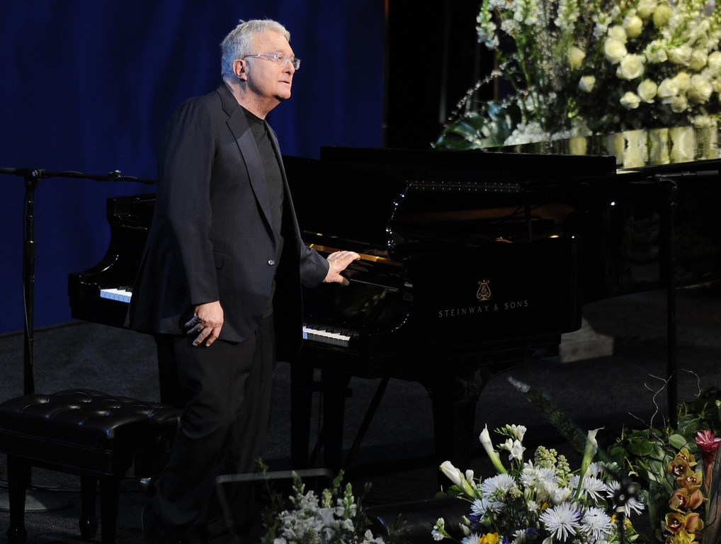 . Randy Newman performed.  Family, friends current and former Lakers players and coaches attended a memorial service at the Nokia Theatre for Laker owner Jerry Buss who passed away on Monday, 2/18/2013 as a result of cancer. Los Angeles, CA 2/21/2013 John McCoy/Staff Photographer