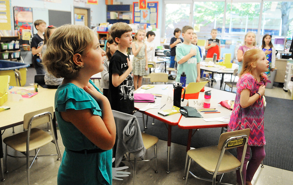 . Ballard Road Elementary School held their first day of classes for South Glens Falls School District Wednesday morning. Saratoga Springs also had their first day of classes.Photo Erica Miller/The Saratogian 9/4/13 news_FirstDay7_Thurs