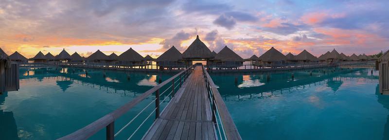 Sunrise at the St. Regis Resort - Bora Bora