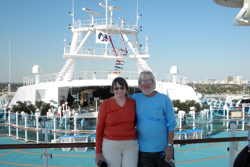 Cheryl & Frank, all set to sail