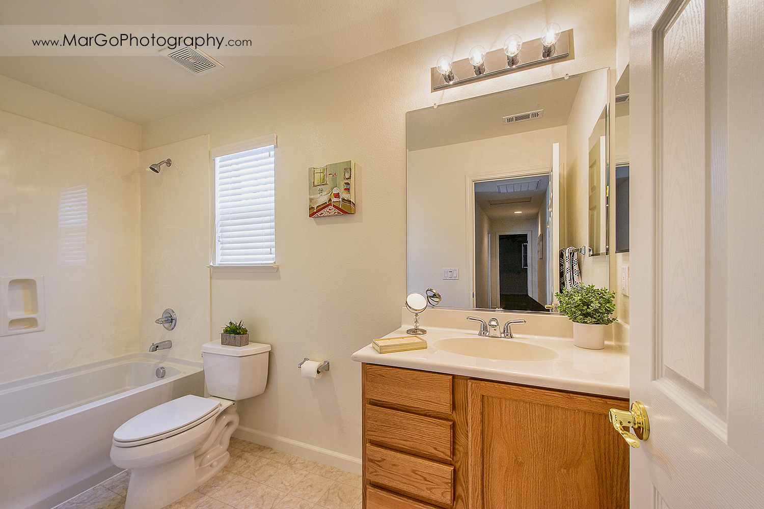 Pittsburd house upstairs bathroom - real estate photography