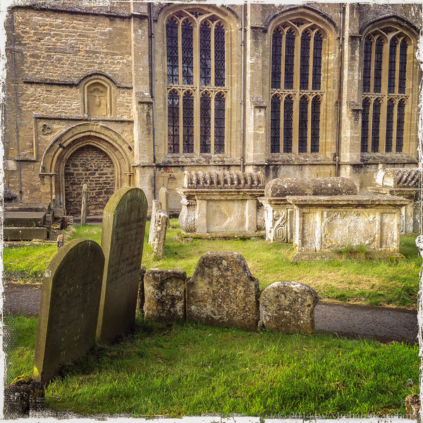 Graveyard at the side of the Burford Church (May, 2014) (Photo: Michael Karchmer)