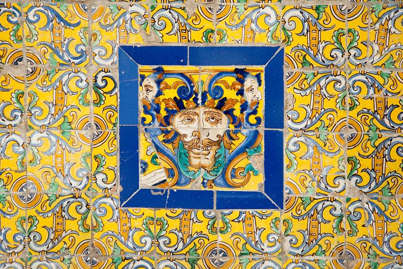 Old glazed ceramic tiles, Fine Arts Museum, Seville, Spain