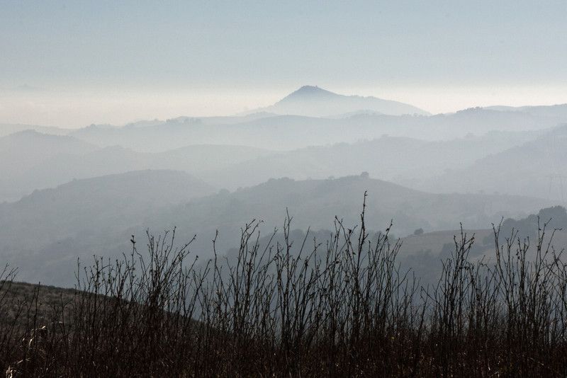 Dec 18: Layers: From Coyote Peak Trail looking roughly south.