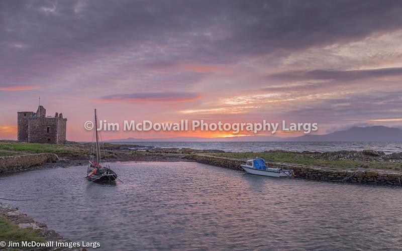 Portencross Castle & Two Boats