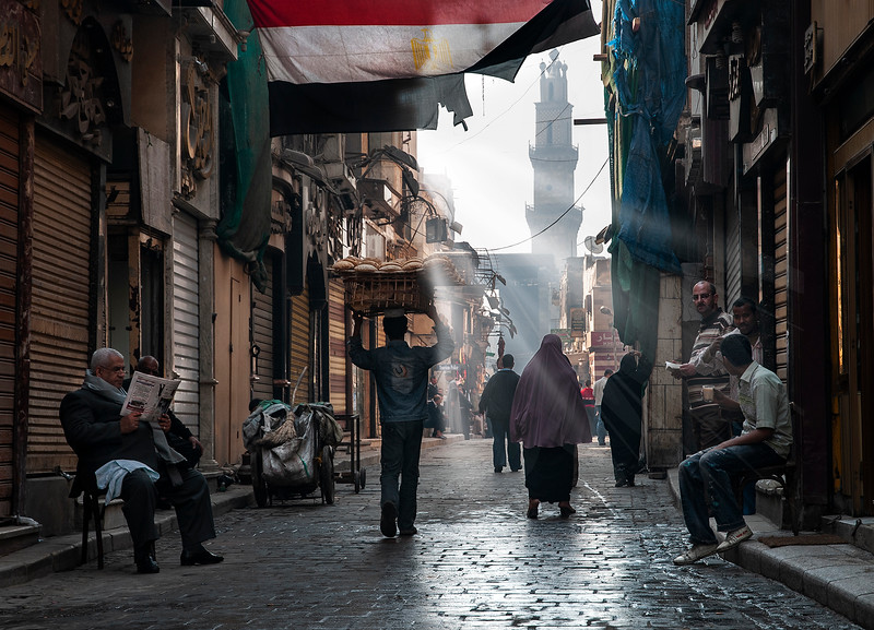 The Khan al-Khalili market wakes up to another day of trading, just like it has done for centuries.   Cairo, Egypt 2010.