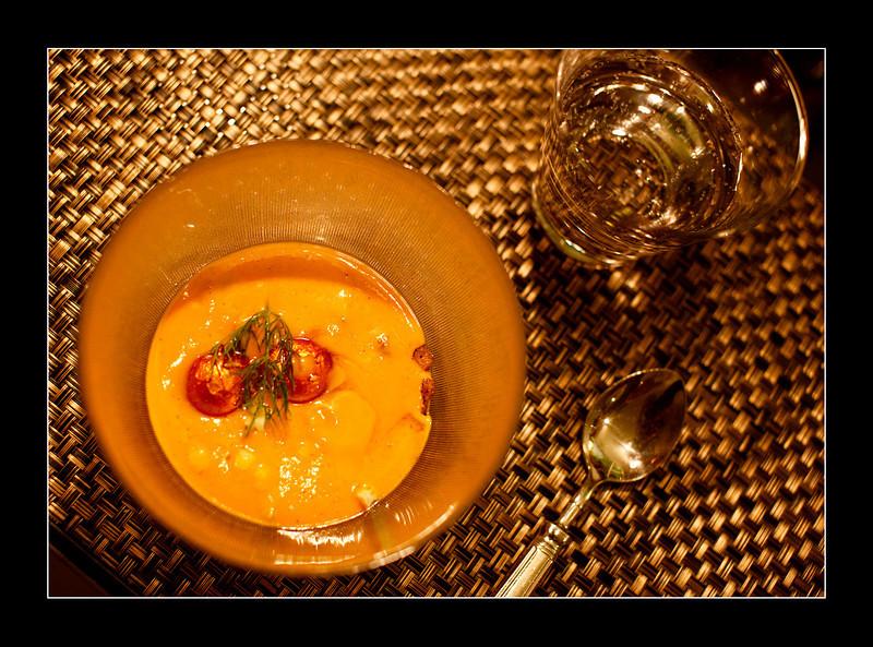 "Gazpacho served in ""Az-Zait"" restaurant, Seville"