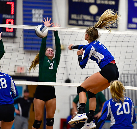 10/2/2019 Mike Orazzi | StaffrBristol Eastern's Zoe Lowe (7) during a win over Maloney on Wednesday.