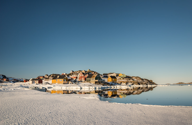 Kulusuk village from the sea ice, East Greenland