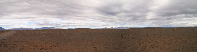 Panorramic stitched view of the HIghlands along the Kjolor road