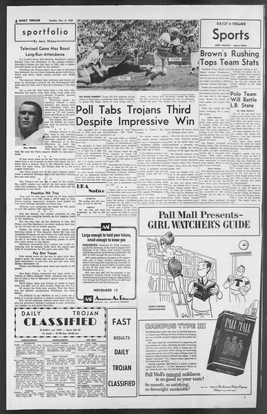 Daily Trojan, Vol. 54, No. 31, November 06, 1962