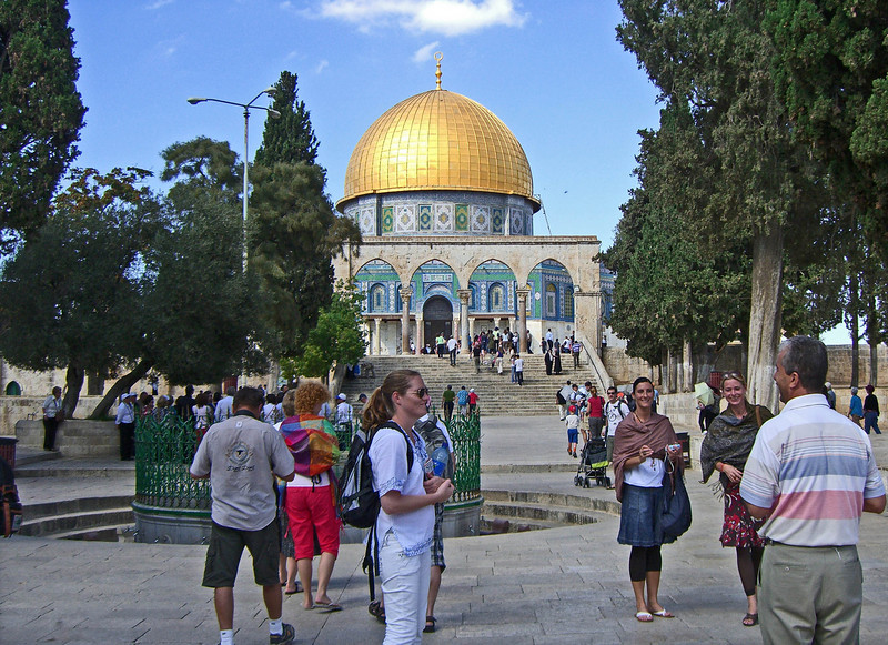 33-Dome of the Rock. Houses the Foundation Stone—the rock upon which the Ark of the Covenant was placed in the First Temple.