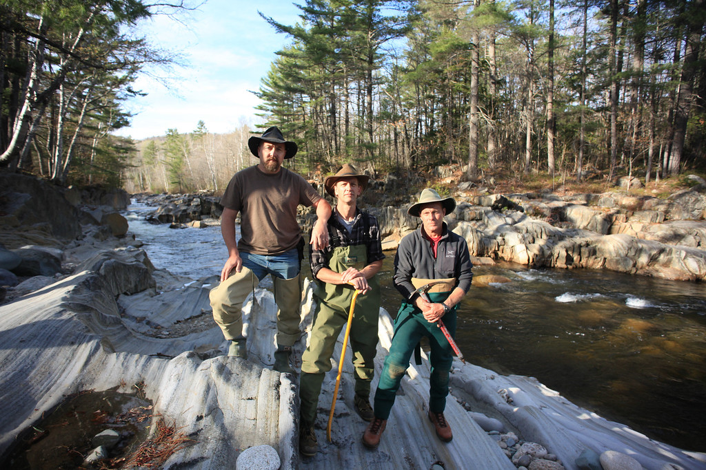 . Chad Watkins, John Self, and Eric Drummond in Maine. Ezra Wolfinger/Discovery Communications