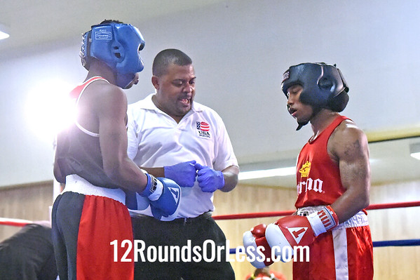 Bout 2 Aaron Richardson, Blue Gloves -vs- Paris Williams, Red Gloves, Boxing for Boxers BC, Chicago, IL, 132 lbs