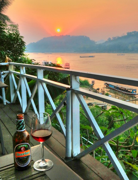 Relishing our last moments in the delightful and charming Luang Prabang, Laos