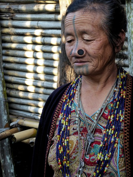 Apatani woman in ziro valley.jpg