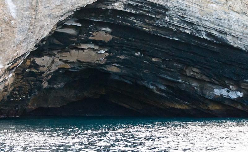 A cave at Punta Vincente Roca, Isabela Island